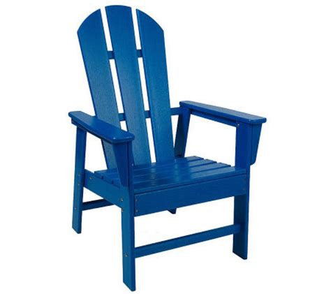 poly wood all weather original adirondack chair qvc