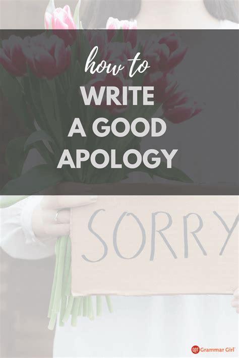 write apology non apologies avoid insert