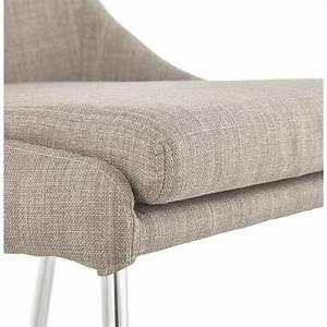 Chaise Tissu Design : chaise design r tro valou en tissu gris ~ Teatrodelosmanantiales.com Idées de Décoration