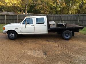 1988 Ford F350 Crew Cab Custom Flatbed With Goose Neck