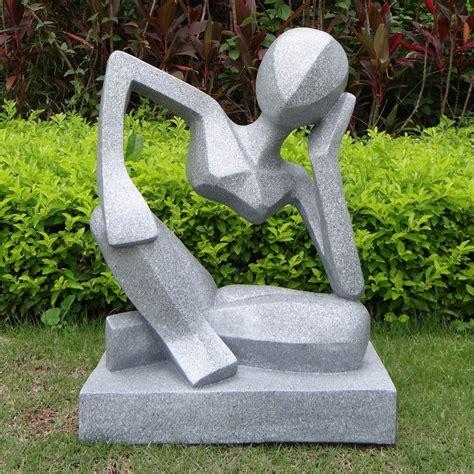 outdoor statue contemporary garden art large garden sculptures reflection modern contemporary statue design