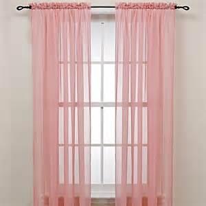 pink rod pocket sheer window curtain panel bed bath beyond