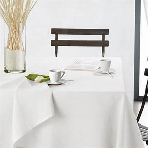 Nappe De Table Pas Cher : nappe blanche rectangulaire pas cher table de cuisine ~ Teatrodelosmanantiales.com Idées de Décoration