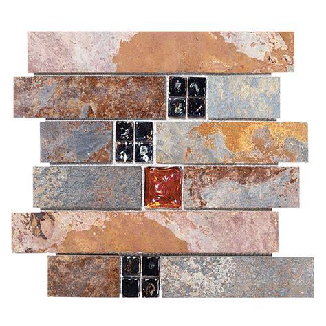 Jeffrey Court* Fire & Ice Brick Mosaic  Slate  Sale