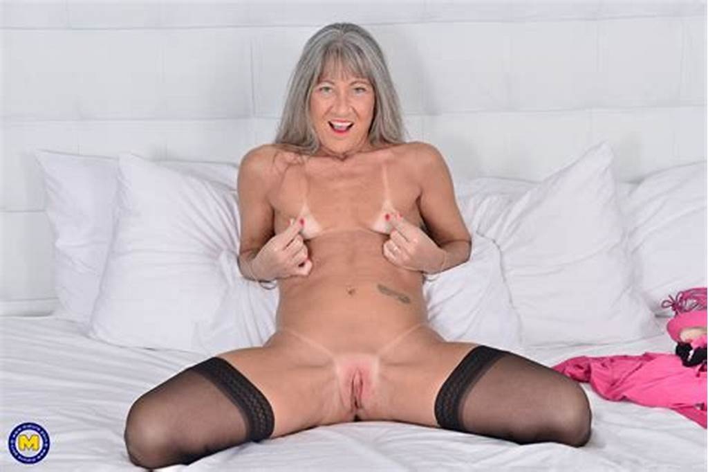 #Long #Haired #Horny #Granny #Looks #Great #In #Pink #With #A #Toy