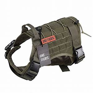Tactical Service Dog Vest Waterproof Military Adventure ...