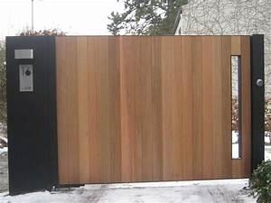 Portail En Bois : portail m tallique fer forg portail automatique ou ~ Premium-room.com Idées de Décoration