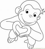 Curious George Coloring Pages Valentines Heart Printable Template Valentine Monkey Sheets Cartoon Bestcoloringpagesforkids Colouring Tv Drawing Balloons Ausmalbilder Idea Shows sketch template