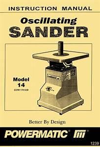 Powermatic Model 14 Oscillating Sander Instructions  U0026 Part