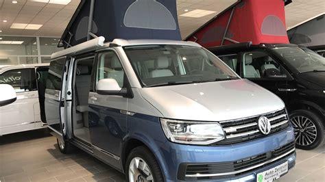 volkswagen t6 california vw t6 bulli california blue cer silver blue colour 2017 walkaround and interior