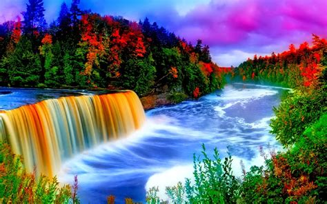 Colorful Waterfall Background 9665 : Wallpapers13 com