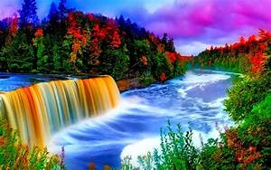 Colorful Waterfall Background 9665 : Wallpapers13.com