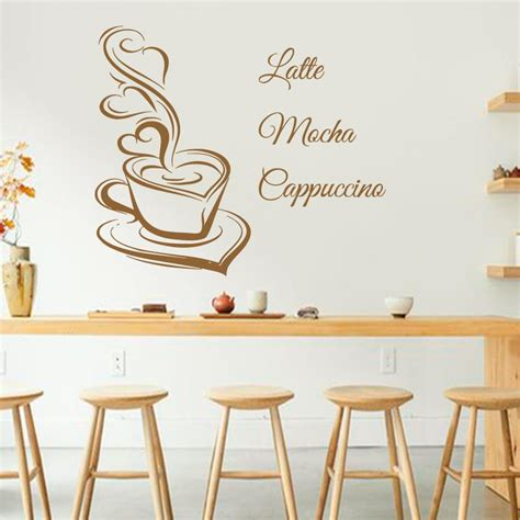 art design coffee wall decals latte mocha cappuccino