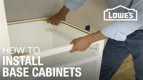 how to install base cabinets how to install base cabinets youtube