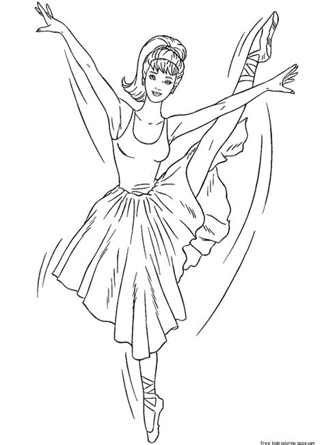 printable barbie ballerina coloring pages  girlsfree printable coloring pages  kids