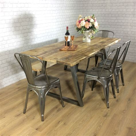 industrial looking dining room tables industrial rustic calia style dining table vintage