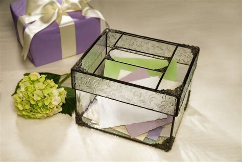 wedding card box glass wedding card box