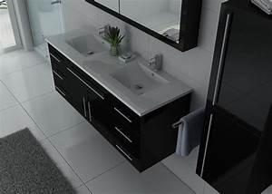 Meuble De Salle De Bain Double Vasque : meuble de salle de bain double vasque noir meuble de ~ Melissatoandfro.com Idées de Décoration
