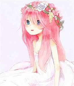 Anime, Girl, Wearing, Flower, Crown