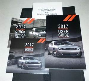 2017 Dodge Challenger User Guide Owners Manual Set 17 Sxt