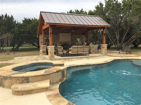 cabana backyard leander tx pool cabana builder austin decks pergolas covered patios porches more