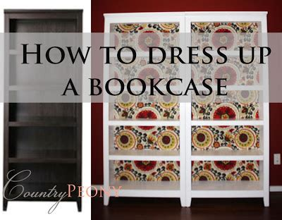 Dressing A Bookcase by Country Peony Dressing Up A Bookcase