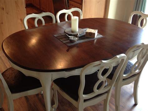 refinished hardwood maple dining table