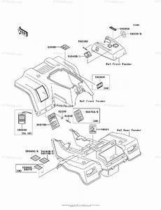 Kawasaki Atv 2005 Oem Parts Diagram For Labels