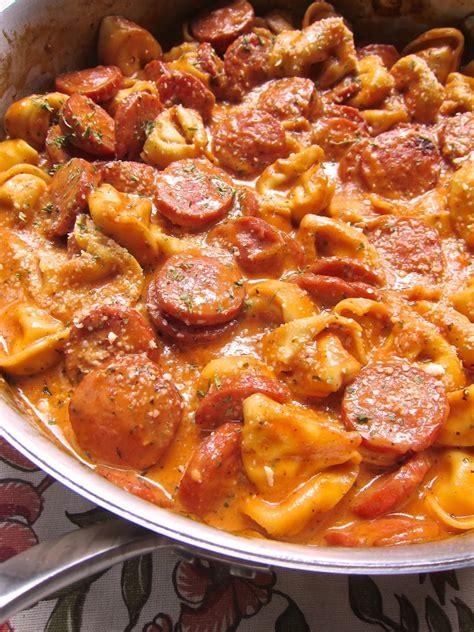 smoked sausage recipe recipes of garrett squared cheesy smoked sausage skillet