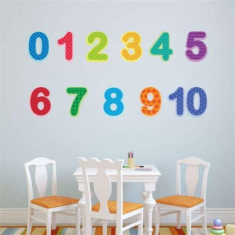 preschool number wall decals 0 10 baby and toddler number 977   numer decals room grande