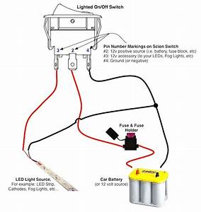 Wiring Diagram Lighted Rocker Switch How To