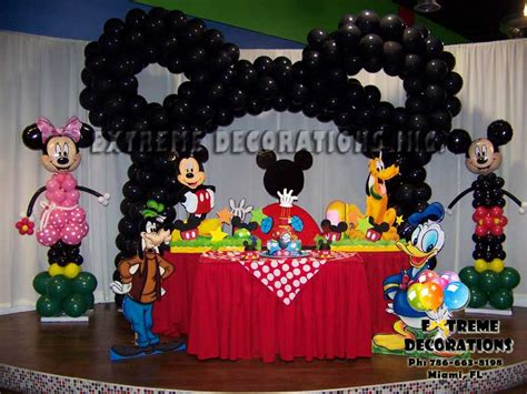 Mickey Mouse Decorations by Decorations Miami Balloon Sculptures