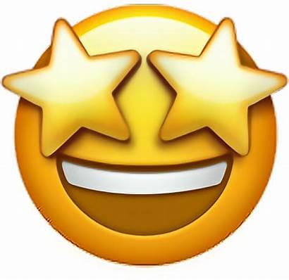 Emoji Star Transparent Estrella Ojos Background Pngkey
