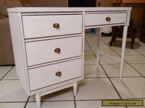 shabby chic desk for sale vintage mid century desk 1950 quot 4 drawers quot rustic white wood shabby chic for sale in united states