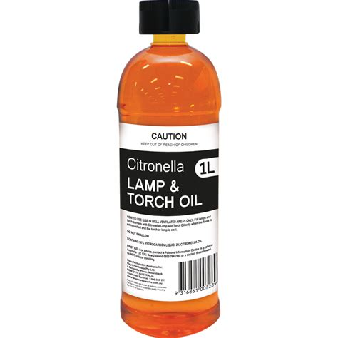 citronella l the range classic 1l citronella l and torch bunnings warehouse