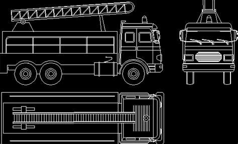 fireman truck  autocad  cad   kb