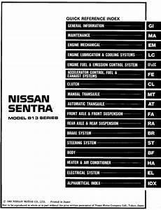 Nissan Sentra Model B13 Series 1994 Service Manual
