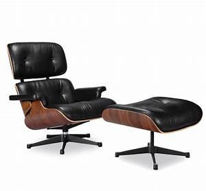 Eames Lounge Chair Replica Vitra Black Manhattan Home Design