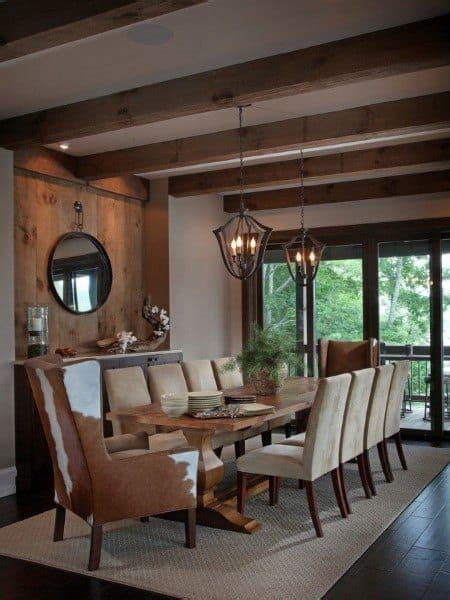 rustic dining room modern cabin warm cozy designs lodge lighting homes chic decor lake interior solaria kitchen building dinning bluff