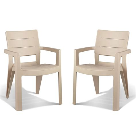 lot de 2 fauteuils ibiza cappucino oogarden france