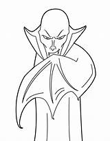 Vampire Coloring Dracula Pages Printable Halloween Count Cartoon Scary Printables Bestcoloringpagesforkids sketch template