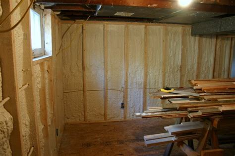 Insulating Basement Walls With Spray Foam Home