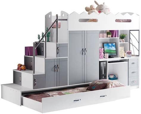 lit combin 233 2 places coloris blanc et gris comforium bedroom lieux design et