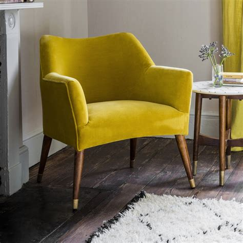 high back wingback chair astoria chair in mustard yellow velvet with brass caps