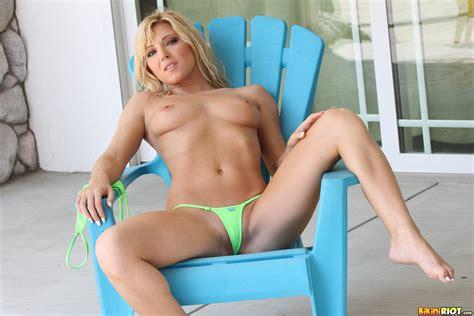 Niki Lee Young - Green Micro Bikini 31916