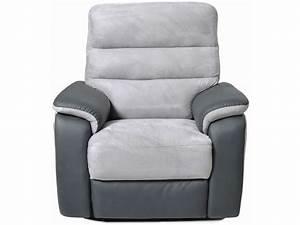 Fauteuil Gris Conforama : fauteuil relax pas cher en promotion canape ~ Teatrodelosmanantiales.com Idées de Décoration