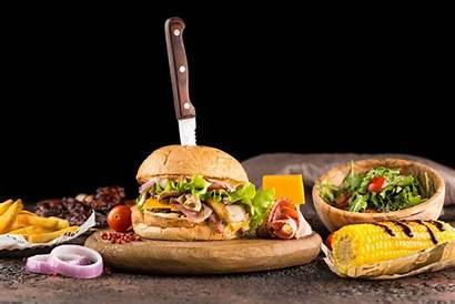 Burger Hamburger Background Wallpapers Corn Salad Tomatoes