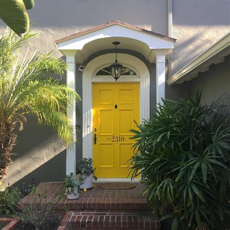 yellow  gray design  paint   exterior