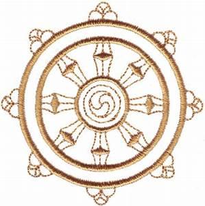 Buddhist Dharma Wheel Symbol
