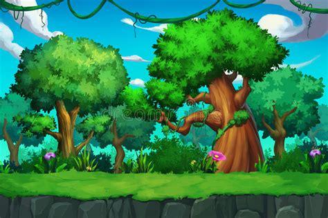 Illustration: The Tree Land. Stock Illustration ...